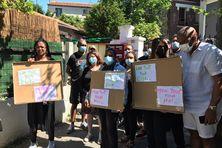 Manifestation en solidarité avec Yvelise Labinsky