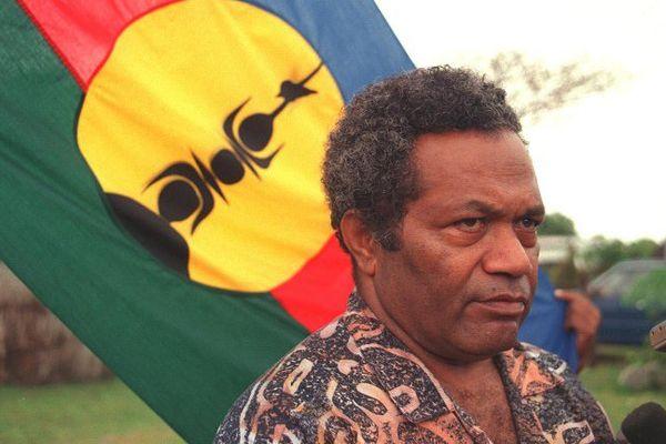 Jean-Marie Tjibaou, le leader du FLNKS à Ouvea le 24 juillet 1988