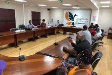 Les membres du Mouvement Citoyen Martinique ont été reçus par les conseillers exécutifs Arnaud René-Corail et Audrey Thaly-Bardol.