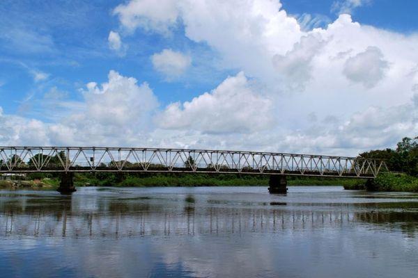 Pont de la crique Fouillée, lieu du drame