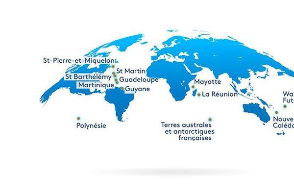 Carte les Outre-mer, c'est quoi ? corrigée complète
