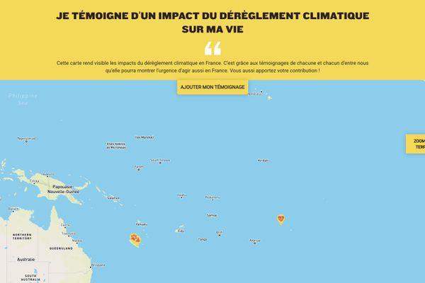 Une carte interactive des Outre-mer pour témoigner du réchauffement climatique