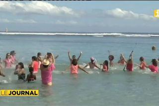 Manifestation anti requins à La Réunion