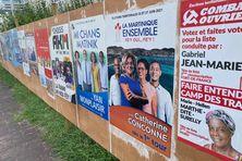 Les candidats sur les panneaux électoraux (13 juin 2021 au Diamant).