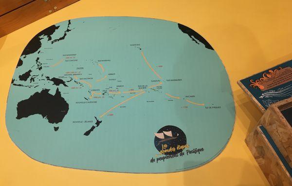 Malles pédagogiques Musée maritime . Grandes étapes peuplement du Pacifique