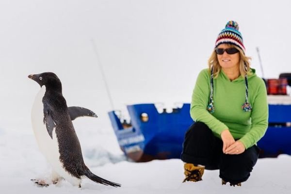 Touriste en Antarctique