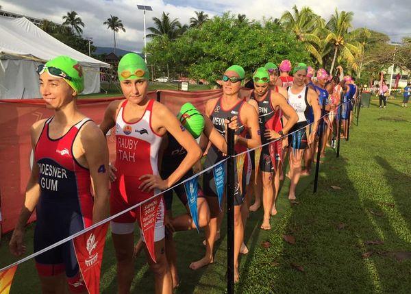 Samoa 2019, départ de l'aquathlon