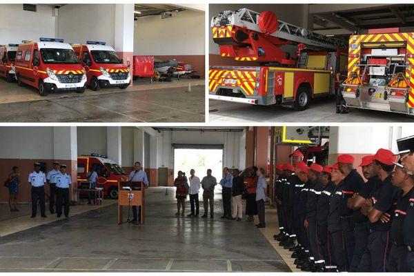 Réception matériel pompiers
