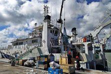 Le bateau de l'IFREMER l'Antea
