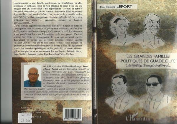 Jean-claude lefort, les grandes familles politiques de guadeloupe- couverture