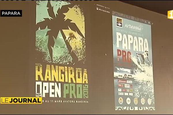 36 Hawaiiens à la Rangiroa Open pro de surf
