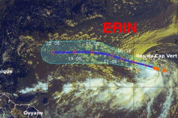 Trajectoire tempête Erin