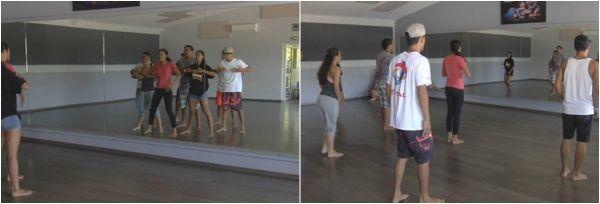 Les danseurs du groupe All In One en répétition