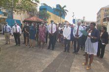 La délégation cubaine reçue sur la place Antonio Maceo au Lamentin.