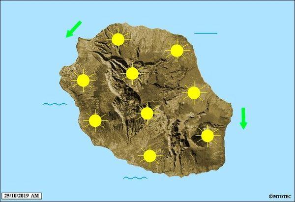 Carte météo 25 octobre 2019