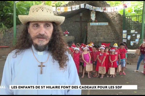 Noël : des scolaires de Papeete se mobilisent derrière le père Christophe