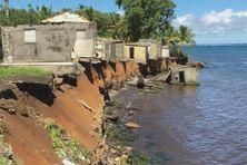 Érosion du littoral à Sainte-Marie de Capesterre-Belle-Eau