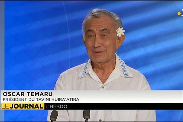 Oscar Temaru était l'invité de l'Hebdo de la semaine.