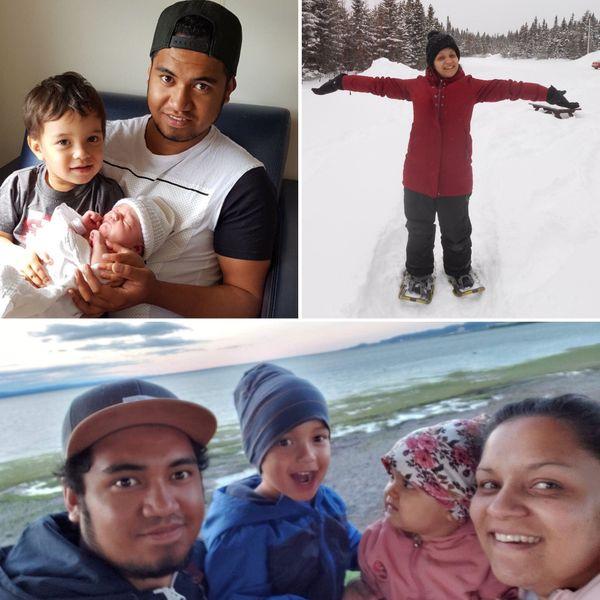 Le couple a trouvé son rythme au Canada avec ses 2 enfants