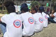 Des jeunes participants au SNU lors d'un stage de cohésion durant la 1ère édition