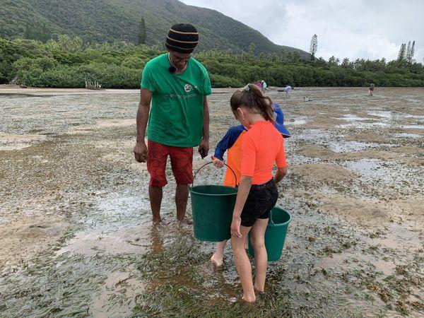 Pêche coquillages platier Goro