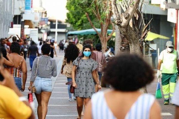 Les rues du centre-ville de Saint-Denis à La Réunion.