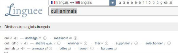 traduction cull linguee