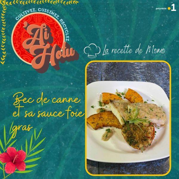 Bec de canne et sa sauce au foie gras