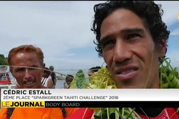 Body Board : Cédric Estall 2ème à Teahupoo