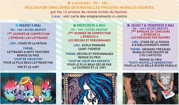 Le programme des animations du Festival Ono'u 2015