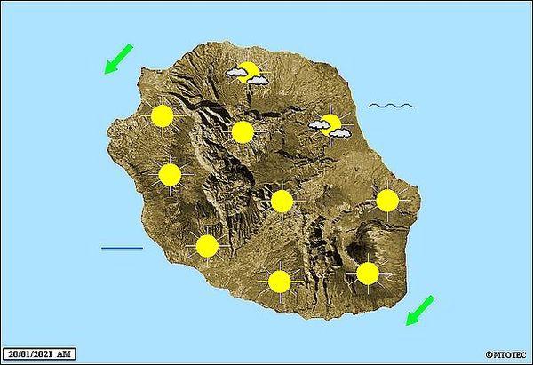 Carte météo 20 janvier 2021