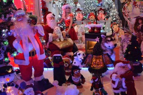 A la Maison du père Noël de l'Anse-Vata (Nouvelle-Calédonie).