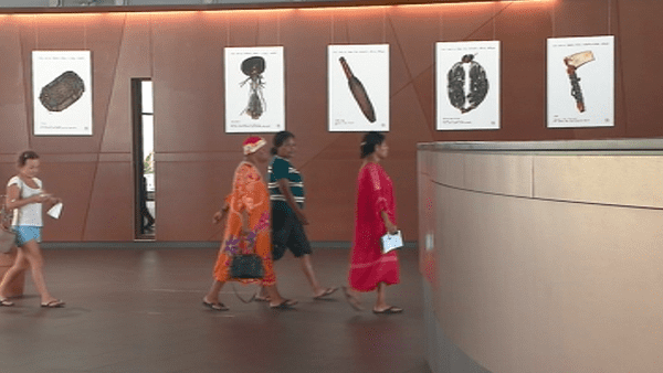Capture d'image: «Représentations» de Miriam Shwamm dans le grand hall du Médipôle (février 2018)
