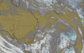 Vue satellite des nuages le 11 novembre