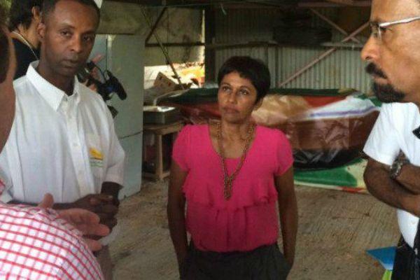 """En visite en Martinique, Ericka Bareigts, la ministre des Outre-mer, annonce l'ouverture du fonds de secours """"calamités agricoles"""""""