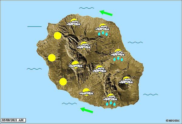 Carte météo 5 août 2021