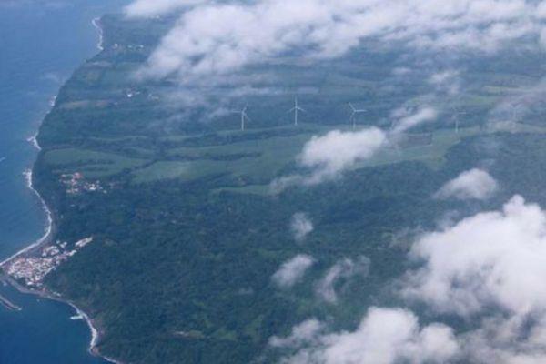 vue aérienne éolienne