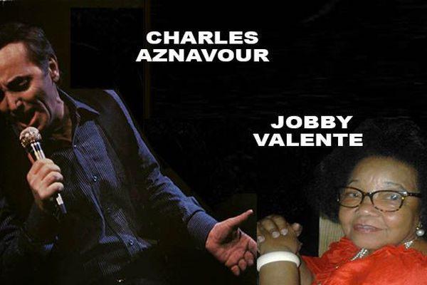 Aznavour et Jobby Valente