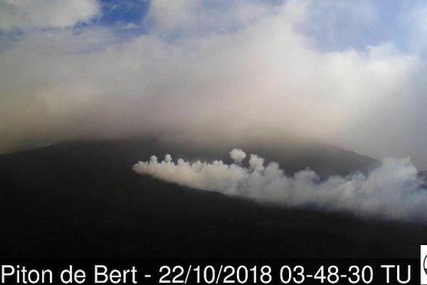 Eruption du 15 sept 5 semaines plus tard le 22 oct 2018