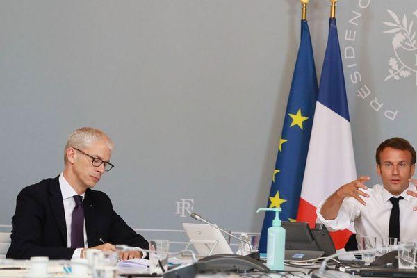 Emmanuel Macron et Franck Riester