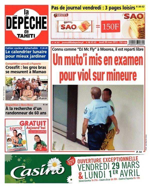 La Dépêche de Tahiti du 28 mars 2013