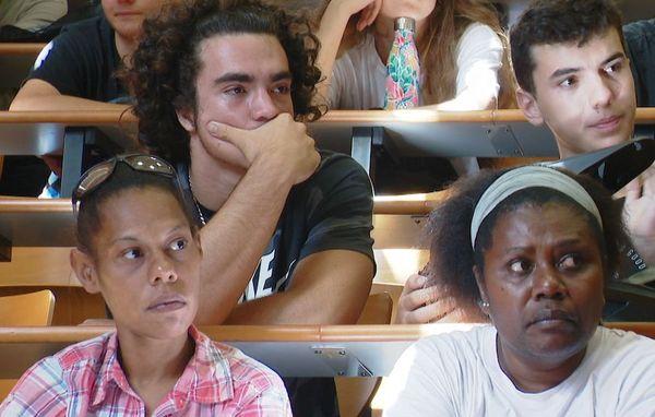 Premier jour de l'année scolaire 2020 au campus de Nouville, étudiants de première année