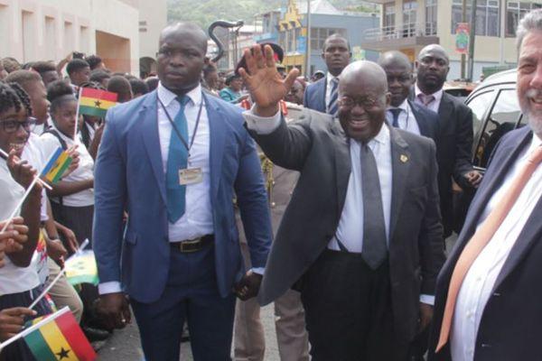 Le président du Ghana à Saint-Vincent