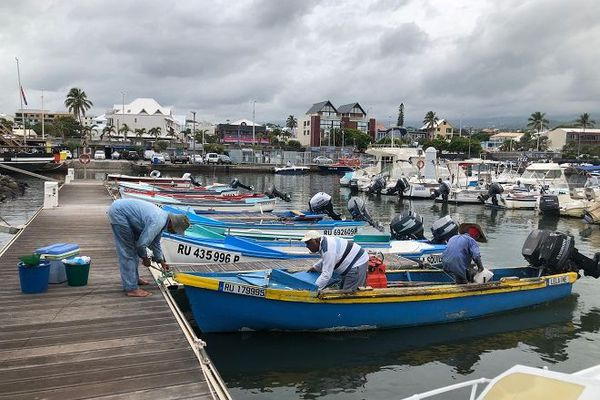 Le retour de pêche au port de Saint-Pierre.