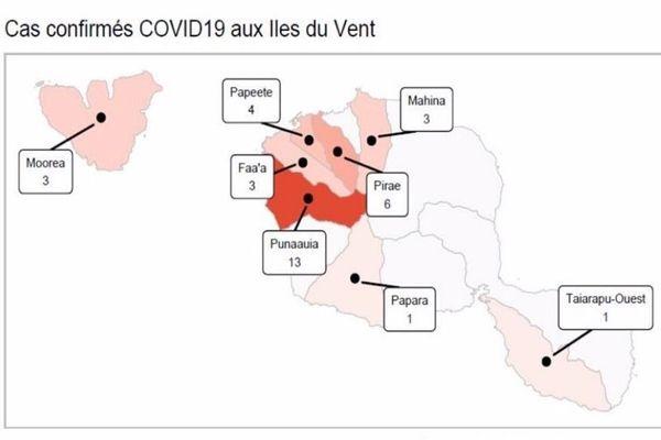 Cas COVID aux Iles du Vent - 29/03/2020