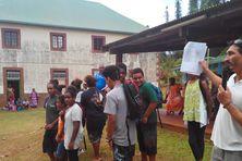 L'appel des élèves au collège Saint-Joseph de VAO - Île des Pins
