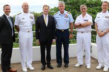 Rencontre du haut Commissaire avec le commandant en chef de la flotte US dans le Pacifique