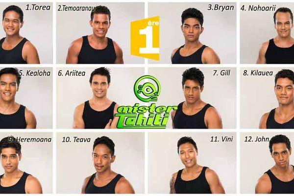 Les 12 candidats à l'électin Mister Tahiti 2016
