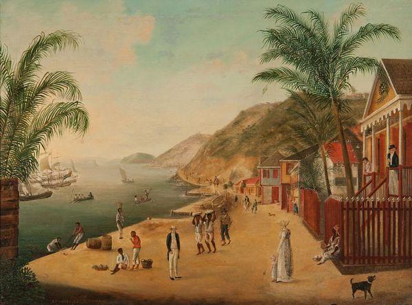 peinture de Gustavia en 1874