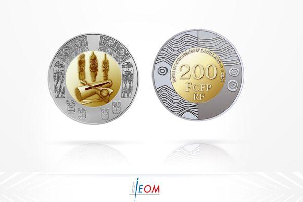 Nouvelle pièce 200 francs CFP